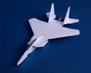How To Make an F15 Paper Airplane | Origami F15 Jet Fighter Plane ... | 236x292
